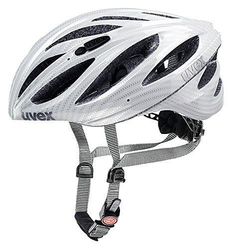 (Uvex 2015 Unisex BOSS Race Helmet Carbon Look White Large/X-Large 55-60cm)
