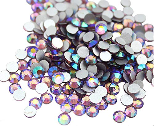 Light Purple Rhinestone - Jollin Glue Fix Crystal AB FlatBack Rhinestones (ss20 576pcs, Light-purple AB)