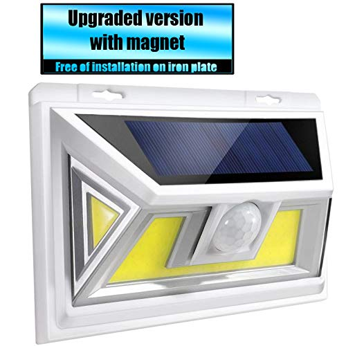 Solar Motion Sensor Night Light, Super Bright Solar Lights Outdoor, Sensor Light with 270° Wide Angle, Waterproof, Easy-to-Install Security Lights for Front Door, Yard, Garage, Deck,rv (1pk White)