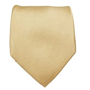 Paul Malone Extra Long Necktie 100% Silk Solid Tan