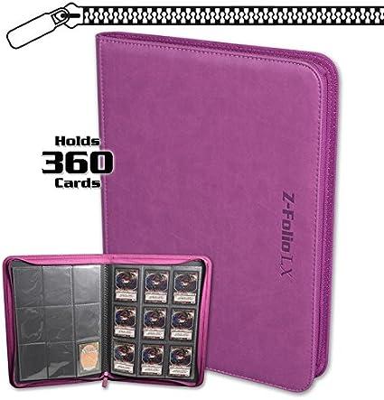 BCW PURPLE Pro-Folio LX Leatherette Album 9 Pocket Pages Side Load Card Storage