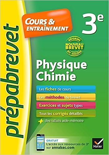 Physique-chimie 3e Nouveau brevet: fiches de cours, exercices et brevets blancs Prépabrevet: Amazon.es: Joël Carrasco, Gaëlle Cormerais: Libros en idiomas ...