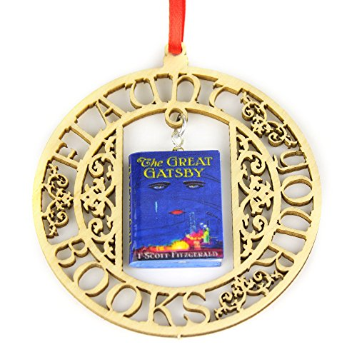 (THE GREAT GATSBY F. Scott Fitzgerald Clay Mini Book FRAMED Ornament ✯ OFFICIALLY LICENSED)
