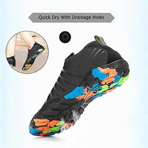 Schwimmschuhe Badeschuhe Neu schwarz Unisex Weiche Leicht Aquaschuhe Für Atmungsaktiv Wasserschuhe Damen Saguaro Herren Schuhe Rutschfest qUaIx