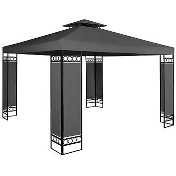 Deuba Pavillon Lorca 3x3m Wasserabweisend Uv Schutz 50 9m Festzelt Partyzelt Gartenzelt Gartenpavillon Anthrazit