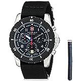 Victorinox Men's 241678.1 Analog Display Swiss Quartz Black Watch