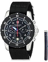 Men's 241678.1 Analog Display Swiss Quartz Black Watch