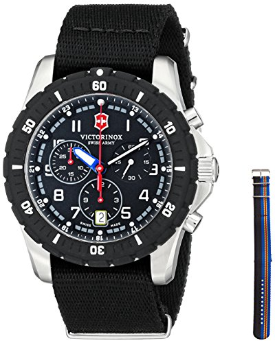 Victorinox Men's 241678.1 Analog Display Swiss Quartz Black Watch