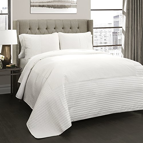 Lush Decor Lush Décor Thin Stripe 3 Piece Quilt Set, King,