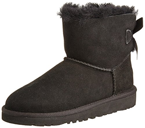 UGG Australia Girls K Mini Bailey Bow Black Winter Boot - 1 by UGG