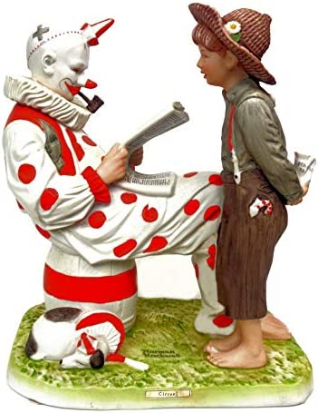 Norman Rockwell Limited Edition of 1000 Circus Full Size, Collectible Porcelain Clown