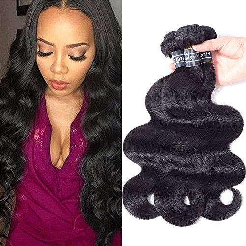 Amella Hair 10A Brazilian Virgin Hair Body Wave 3 Bundles 100% Unprocessed Brazilian Body Wave Remy Human Hair Extensions(20 22 24)