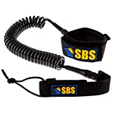SBS 10' Coiled SUP Leash - Guaranteed Life - Premium Design Flat & Open Water Stand up Paddle Board