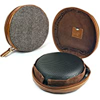 Tuff-Luv Herringbone Tweed NFC Travel Case for Bang & Olufsen B&O BeoPlay A1 Bluetooth speaker - Brown