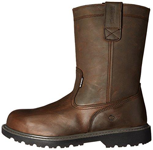 Wolverine Men's Floorhand Waterproof 10'' Soft Toe Work Boot, Dark Brown, 7.5 W US by Wolverine (Image #5)