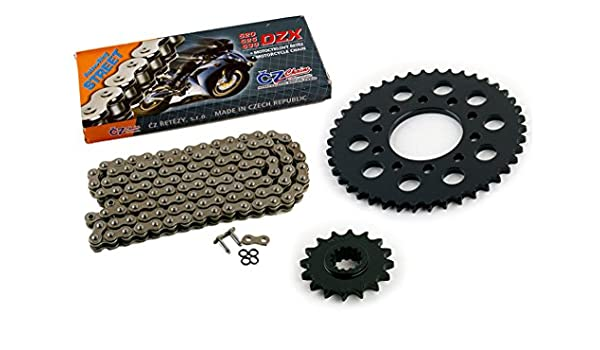 Volar O-Ring Chain and Sprocket Kit Black for 1995-2003 Honda Magna 750 Deluxe VF750CD