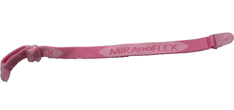 Miraflex Replacement Straps Eyeglasses Medium Adjustable Elastic (Clear Pink Pearl) by MIRAFLEX