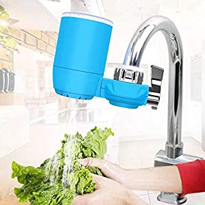 Pangjxud Mini Water Filter Faucet Faucet Water Filter, Home Kitchen Ultrafiltration Membrane Non-Drinking Machine Water…