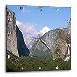 Cheap 3dRose El Capitan and Bridalveil Falls in Yosemite National Park – Wall Clock, 15 by 15-Inch (dpp_36441_3)