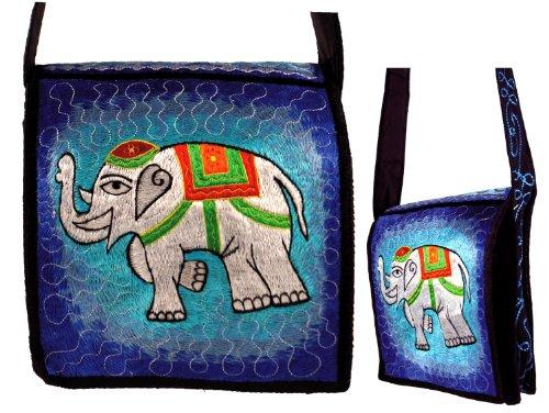 Hippie borsa, motivo ricamato bag-elephant/borsa a tracolla
