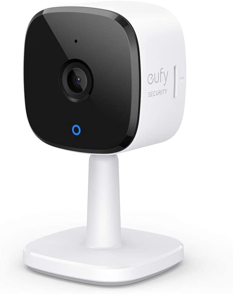 eufy Security 2K Indoor Cam, Plug-in Security Indoor Camera with Wi-Fi, IP Camera,Human and Pet AI, Works with Voice Assistants, Night Vision, Two-Way Audio, HomeBase Not Required (Renewed)