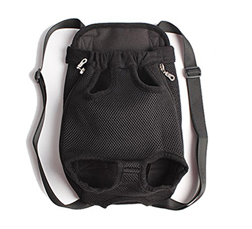Blue Sky Carrier (Pet Dog Cat Portable Carrier Back Front Pack for Travel (Black Small))