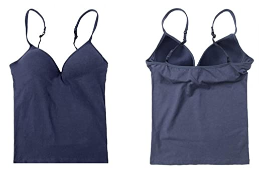 ADS Women's Built in Shelf Bra Adjustable Strap Tank Top: Amazon ...
