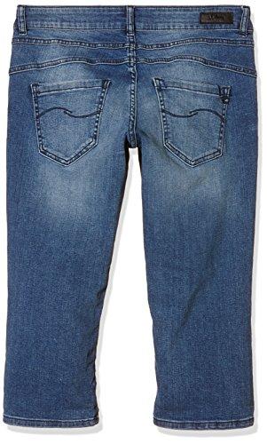S.Oliver Denim, Pantalones para Mujer Azul (blue denim, heavy stone w 56Z6)