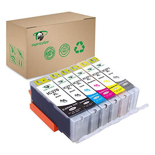 Supricolor 6 Pack 270xl 271xl Edible Ink Cartridge, Replacement for PGI-270XL PGI 270 CLI-271XL CLI 271 Compatible with PIXMA MG7720 TS9020 TS6020 by Supricolor (Image #7)