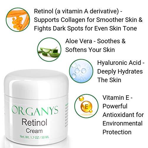 51moo5DZIZL - Organys Retinol Cream. Anti Aging & Anti Wrinkle