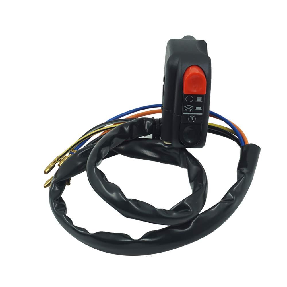 Universal 7//822mm Motorrad Lenkerschalter f/ür Horn Start Hoch//Dip Scheinwerfer /Öffnen Button Gr/ö/ße : Left