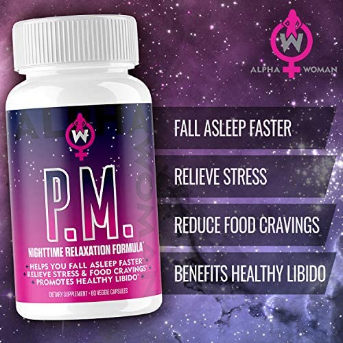 Alpha Woman PM - Nighttime Relaxation Formula - Relieve Stress, Reduce Food Cravings, Promote Healthy Libido - Vegan & Keto Safe -60 Capsules 3
