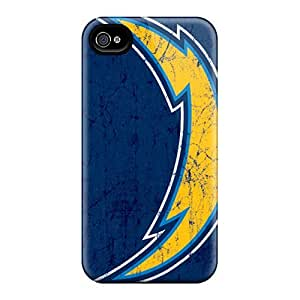 Shock Absorbent Hard Phone Cases For Iphone 6plus With Allow Personal Design Realistic San Diego Chargers Pattern CristinaKlengenberg