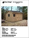 10' X 12' Saltbox Style Storage Shed Project Plans - Design #71012