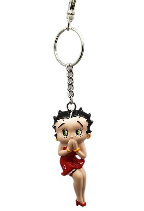 Key chain Llavero Betty Boop sosteniendo Manos a la Cara ...