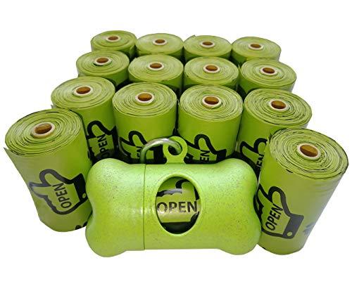 Ourhome520 Dog Waste Bags, Earth Friendly Pet Dog Poop Bags, Refill Rolls + Bone Dispenser