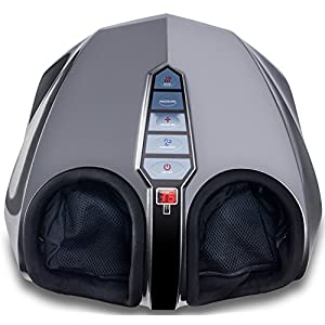 Miko Shiatsu Foot Massager With Deep-Kneading, Multi-Level Settings, And Switchable Heat Charcoal Grey