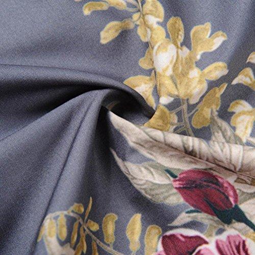 Signore Della Abito Retro Wuyim Parte Vestito Musicale Vintage Cocktail Donne Stampa Le Nota Grigio Per Dall'oscillazione Donne UItCn4nqw