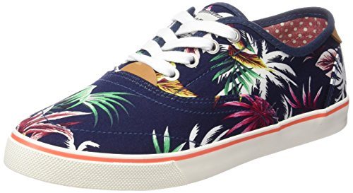 Board Tropical Top Icon Sneakers Low Women's Blue Blue 385 Wrangler Blau pfwqS5RSn