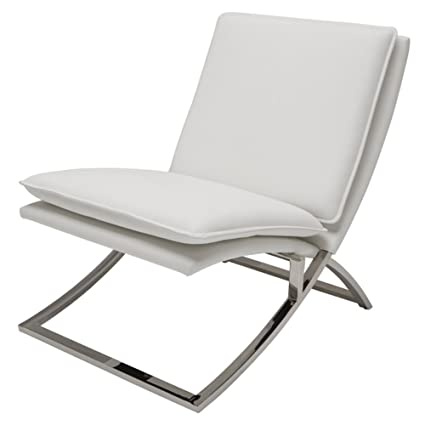 Nuevo Neo Faux Leather Accent Chair In White