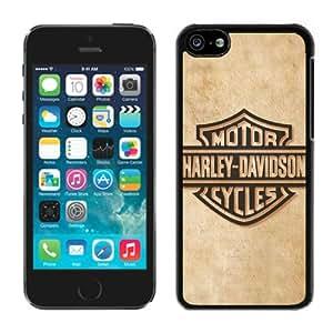 Unique Photo Case,harley davidson logo 8 Black Custom iPhone 5c Cover Case