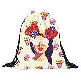 Creazy Fashion 3D Printing Travel Backpack Softback Harajuku drawstring Bag
