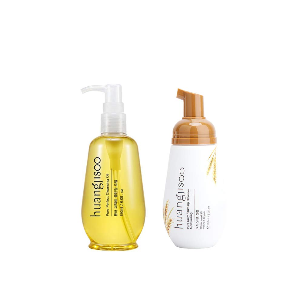 huangjisoo Vegan Cleansing Oil + Pure Daily Moisturizing Foaming Cleanser