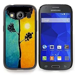 """For Samsung Galaxy Ace Style LTE/ G357 Case , Hermosa Blue Sun Orange Tree Naturaleza"""" - Diseño Patrón Teléfono Caso Cubierta Case Bumper Duro Protección Case Cover Funda"""