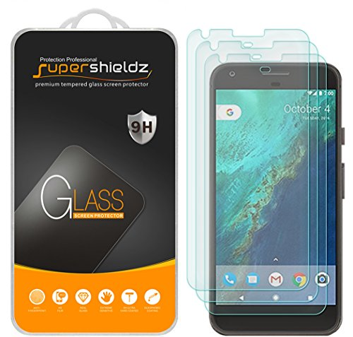 Supershieldz (3 Pack) for Google (Pixel XL) (Not Fit for Pixel 3 XL) Tempered Glass Screen Protector, Anti Scratch, Bubble Free (Best Pixel Xl Glass Screen Protector)