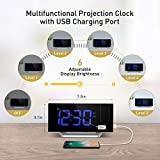 Mpow Projection Alarm Clock, FM Radio Alarm