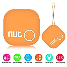 Smart Tag Nut 2 Bluetooth Anti-lost Tracker, Key Finder Tracking Wallet Key Bag Luggage Pet Dog Tracer Locator Alarm Patch GPS Locator for iOS/ iPhone/ iPod/ iPad/ Android (Orange)