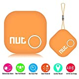 Smart Tag Nut 2 Bluetooth Anti-lost Tracker, Key Finder Tracking Wallet Key Bag Pet Dog Tracer Locator Alarm Patch GPS Locator for iOS/ iPhone/ iPod/ iPad/ Android, Orange