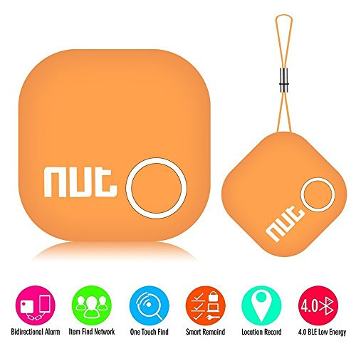 Smart Tag Bluetooth Anti-lost Tracker Key Finder Pet Wallet GPS Tracker Locator Alarm Patch GPS Tracker Locator for iOS/iPhone/iPod/iPad/Android(Orange)