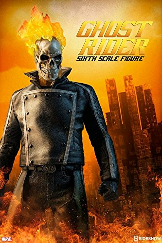 Sideshow Collectible Figure (Sideshow Marvel Comics Ghost Rider Johnny Blaze 1/6 Scale 12